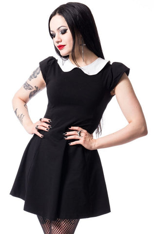 Poizen Industries Gothic Minidress, Suicide Dress - Angel Clothing