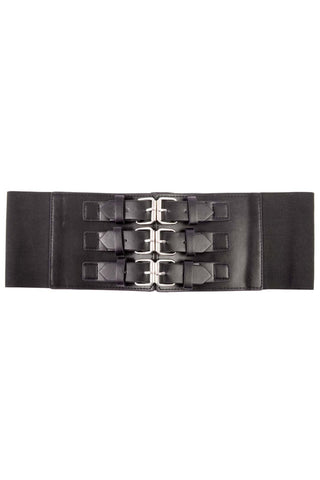 Poizen Industries Gothic Waist Belt,  Faux Leather Chor Corset Belt - Angel Clothing
