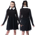 Poizen Heartless Wednesday Lace Dress | Angel Clothing