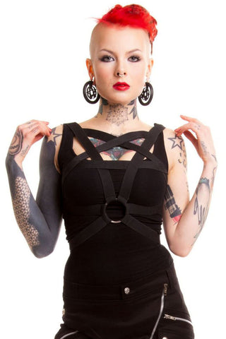 Poizen Heartless Pentagram Harness | Angel Clothing