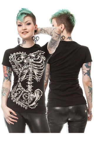 Poizen Vixxsin Bone Corset T-shirt | Angel Clothing