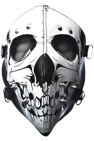 Poizen White Skull Full Face Mask | Angel Clothing
