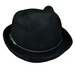 Poizen Kitty Bowler Hat Black | Angel Clothing