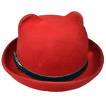 Poizen Kitty Bowler Red | Angel Clothing