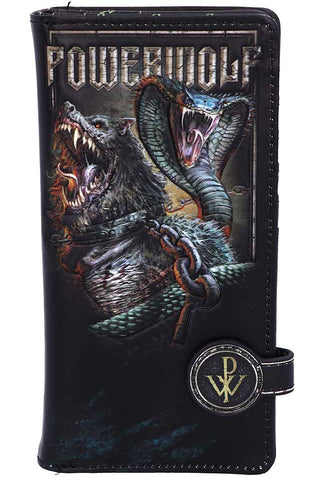PRE-ORDER Powerwolf Embossed Purse | Angel Clothing