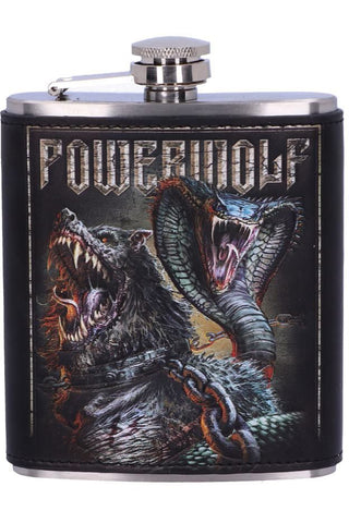 PRE-ORDER Powerwolf Hip Flask | Angel Clothing