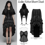 Punk Rave Black Fairy Hooded Bolero Cape | Angel Clothing