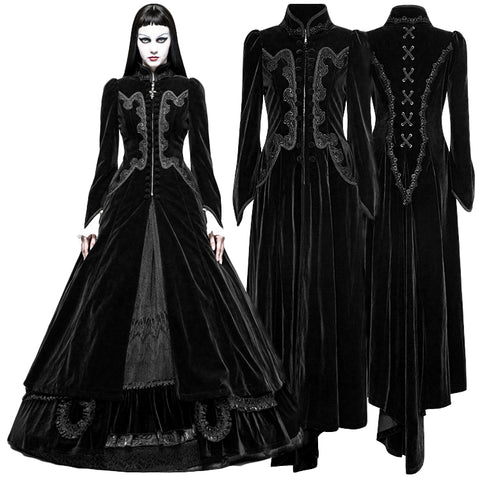 Punk Rave Black Vampire Queen Coat | Angel Clothing