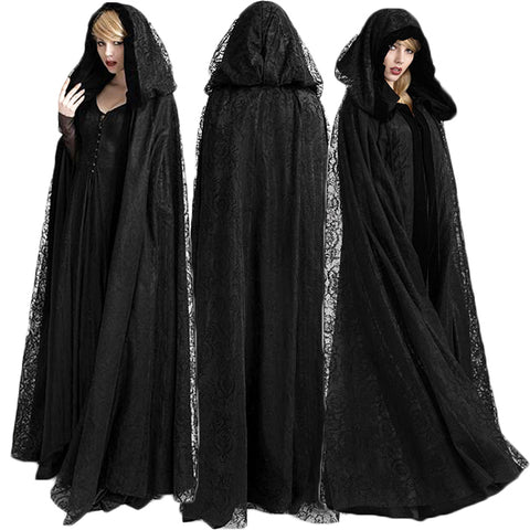 Punk Rave Black Widow Cloak Luxury Cape | Angel Clothing