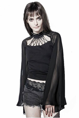 Punk Rave Calypso Top Black PT-111 | Angel Clothing