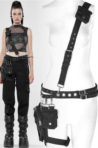 Punk Rave Catacomb Bag and Harness Black | Angel Clothing