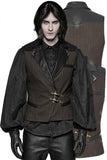Punk Rave Formal Waistcoat Brown | Angel Clothing