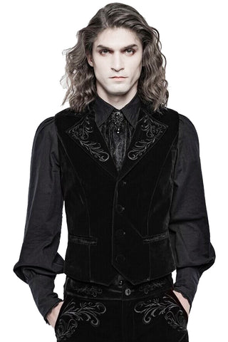 Punk Rave Hamlet Waistcoat Black | Angel Clothing