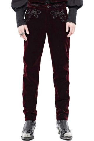 Punk Rave Hamlet Red Trousers | Angel Clothing