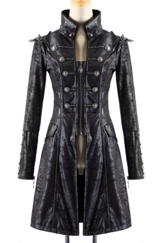 Punk Rave Ladies Military Style Spiky Coat Y-366 | Angel Clothing