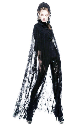 Punk Rave Lilith Black Cape - Angel Clothing