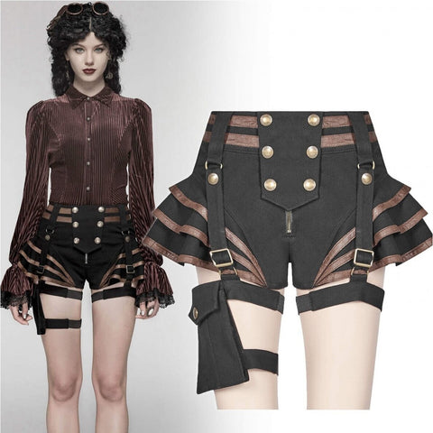 Punk Rave Maeve Shorts Brown | Angel Clothing