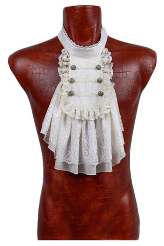 Punk Rave Mens Dark Decay Jabot White | Angel Clothing