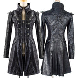 Punk Rave Mens Military Style Spiky Coat Y-366 | Angel Clothing