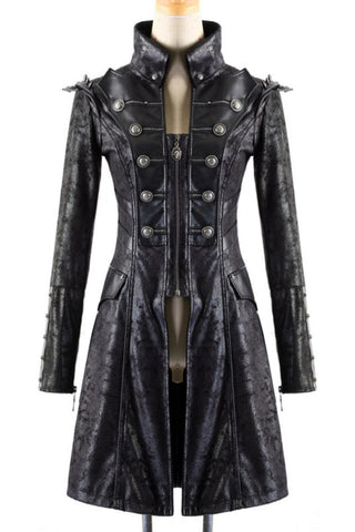 Punk Rave Mens Military Style Spiky Coat Y-366 - Angel Clothing