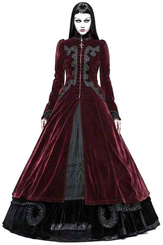 Punk Rave Red Vampire Queen Coat | Angel Clothing