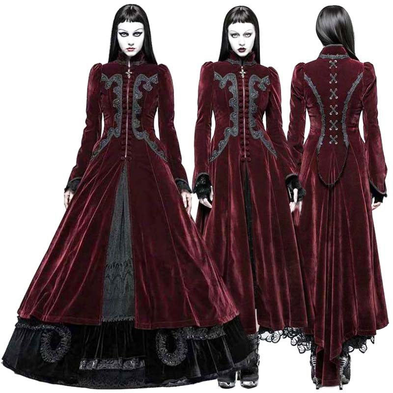 11a4d9c05518 Punk Rave Red Vampire Queen Coat – Angel Clothing