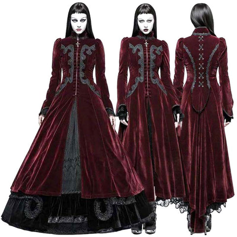 Punk Rave Red Vampire Queen Coat - Angel Clothing