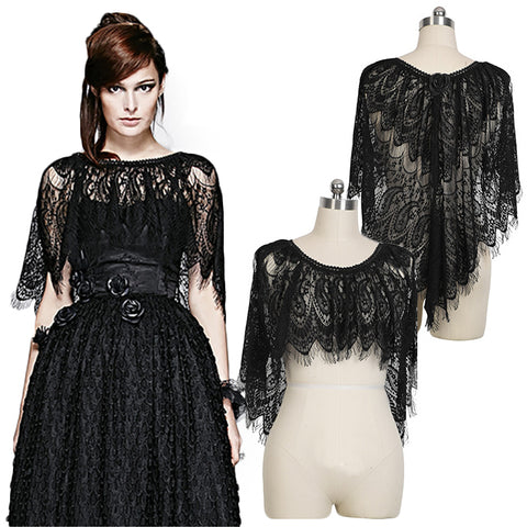 Punk Rave Black Peacock Cape | Angel Clothing