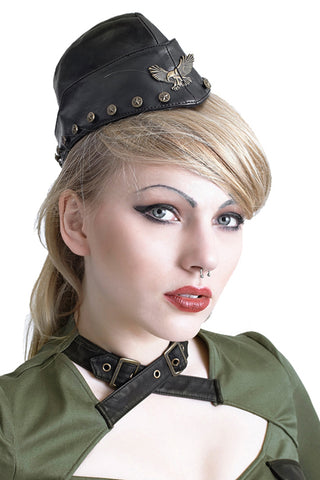 Punk Rave Soldier Side Cap S-164 - Angel Clothing