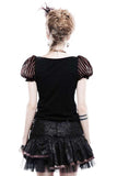 Punk Rave Stripy Steampunk Romantic Puffy Sleeves Top | Angel Clothing