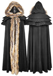 Punk Rave Winterfell Cloak Black Ladies | Angel Clothing