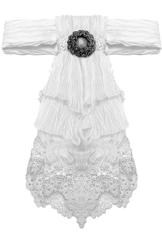 Punk Rave Gothic Romeo Jabot White | Angel Clothing