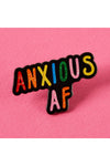 Punky Pins Anxious AF Enamel Pin | Angel Clothing