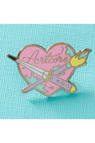 Punky Pins Artcore Enamel Pin | Angel Clothing