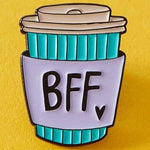 Punky Pins BFF Coffee Cup Enamel Pin | Angel Clothing