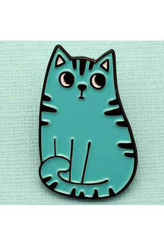 Punky Pins Blue Cat Enamel Pin | Angel Clothing