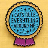 Punky Pins Cat Rule Everything Enamel Pin | Angel Clothing