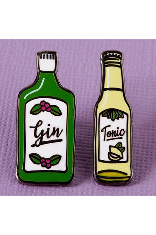 Punky Pins Gin and Tonic Enamel Pin Set | Angel Clothing