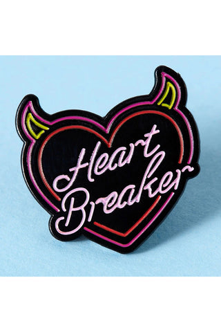Punky Pins Heartbreaker Neon Sign Enamel Pin | Angel Clothing