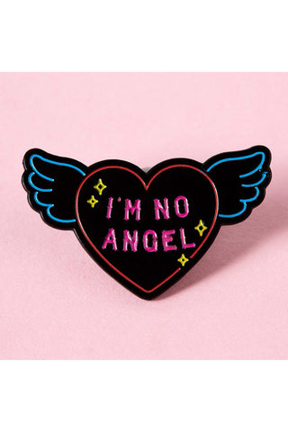 Punky Pins I'm No Angel Neon Sign Enamel Pin | Angel Clothing