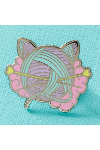Punky Pins Kitten Wool Ball Enamel Pin | Angel Clothing