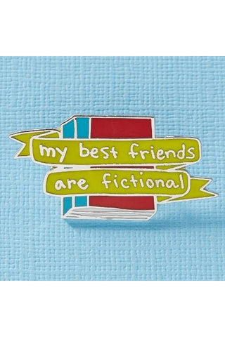 Punky Pins My Best Friends Are Fictional Enamel Pin | Angel Clothing