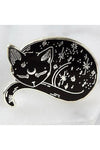 Punky Pins Mystical Cat Enamel Pin | Angel Clothing