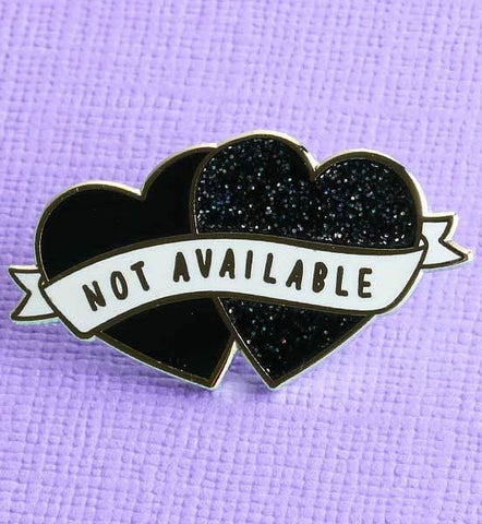 Punky Pins Not Available Heart Shaped Enamel Pin - Angel Clothing