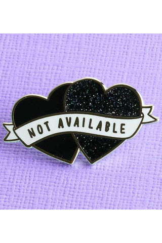 Punky Pins Not Available Heart Shaped Enamel Pin | Angel Clothing
