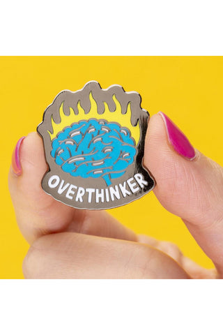 Punky Pins Overthinker Enamel Pin | Angel Clothing