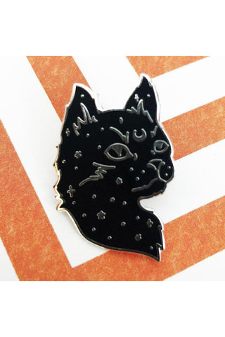 Punky Pins Starry Cat Enamel Pin | Angel Clothing