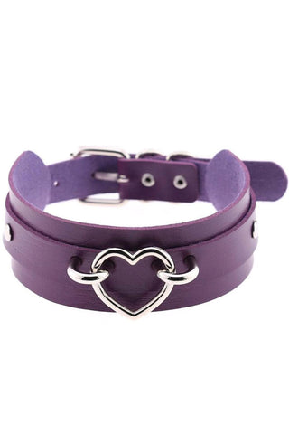 Purple Gothic Heart Collar | Angel Clothing