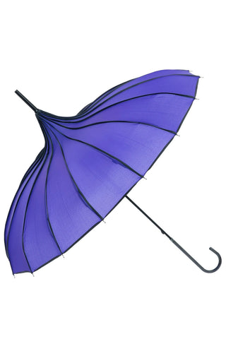 Purple Ribbed Pagoda Umbrella / Parasol | Angel Clothing