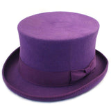 Purple Wool Felt Steampunk Top Hat | Angel Clothing